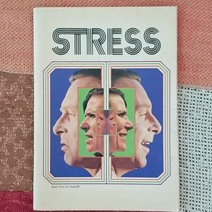 Vintage Kitschy 1974 Blue Cross Book on Stress
